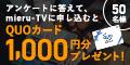【初月無料】mieru-TV(ライフイン24×mieru-TVアンケートキャンペーン)(900円(税抜)コース)